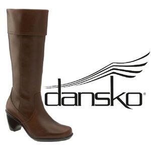 Dansko Chestnut 'Risa' heeled boot, size 41
